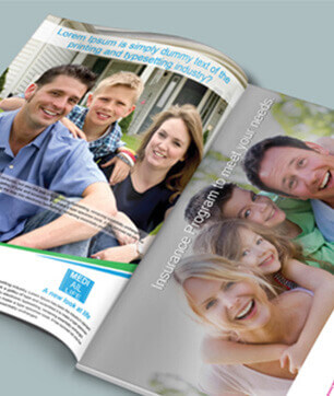 Insurance graphic design