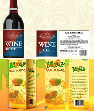 Wine bottle graphic design