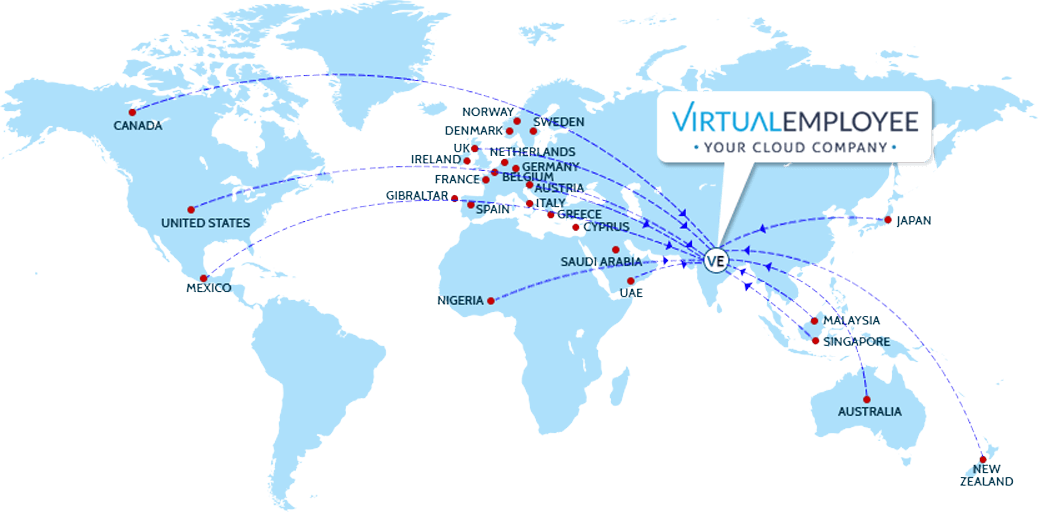 Virtual Employee Global Client across 33 Countries