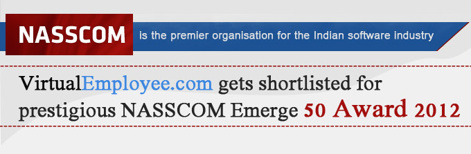 Virtual Employee Pvt. Lts Shortlisted for NASSCOM Emerge 50 Award 2012